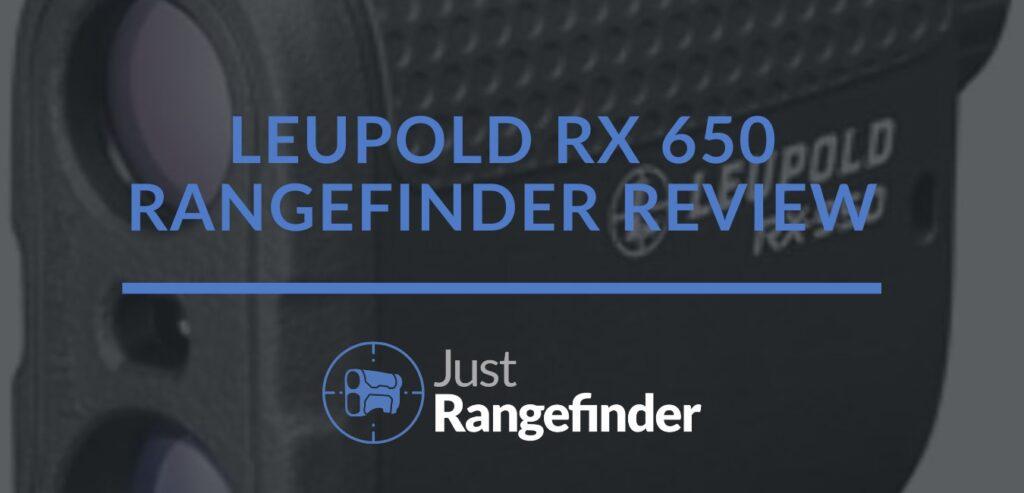 leupold rx 650 rangefinder review